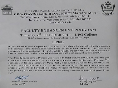 Faculty Enhancement Program